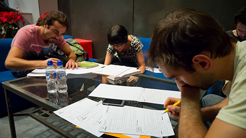 Participantes en el Concurso Teatro Exprés 2013. (17-X-2013).